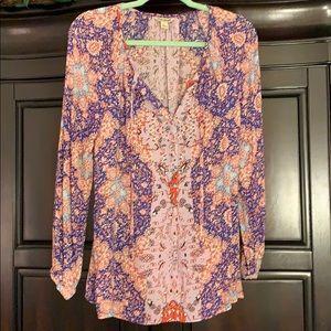 Lucky Brand boho blouse